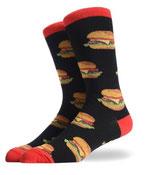 Socken mit Burgern, Schwarz Rot