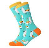 Socken mit Lamas, blau