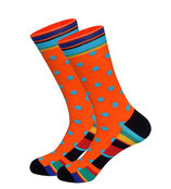 Mustersocken, Afrika Orange