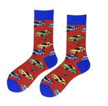 Socken mit Rennautos