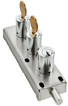 Verrou de manoeuvre à échange de clés 2 pou 1 AGA1208
