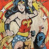 Thomas Bossard, huile sur Toile - Wonder Woman
