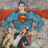 Thomas Bossard, huile sur Toile - Superman