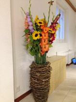 Flechtvase ohne Blumen 60cm-70cm hoch
