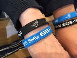 BMW GS Treffen Silikonarmband, schwarz