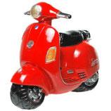 Spardose Motorroller rot