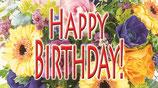 """Flaschenpost Blumen """"HAPPY BIRTHDAY!"""""""