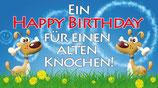 """Flaschenpost Hunde """"EIN HAPPY BIRTHDAY..."""""""