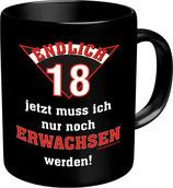 Tasse zum 18 Geburtstag