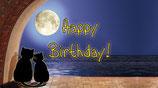 """Flaschenpost Katzen """"Happy Birthday!"""""""