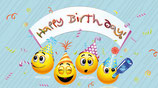 "Flaschenpost Smiley ""Happy Birthday!"""