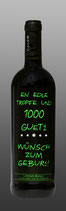 Wein ''EN EDLE TROPFE UND 1000...''