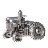 Spardose Traktor silber