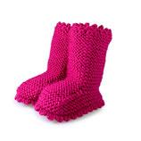 Strickschuhe Boots / Pink