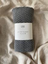 My first blanket  Strickdecke  Graphit