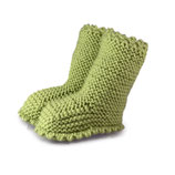 Strickschuhe Boots / Fresh Olive / Limited Edition