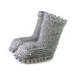 Strickschuhe Boots / Grey