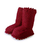Strickschuhe Boots / Ruby