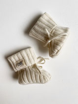 Newborn Booties / 100 % Cashmere / sand