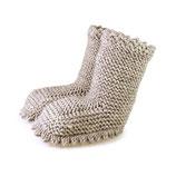 Strickschuhe Boots / Sand