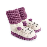 Strickschuhe Little Lion / Plum