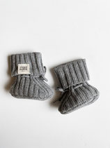 Newborn Booties / 100 % Cashmere / grey