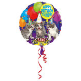 1 Musikballon - Ø 71cm - Katze