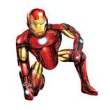 1 Laufender Ballon – Ø116 cm- Iron Man