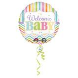 1 Folienballon - Ø 43cm – Baby Brights
