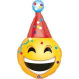 1 Folienballon-Emoticon - Party Hut - Ø 99cm