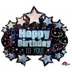 1 Folienballon - Ø 78 cm Brilliant Birthday Marquee
