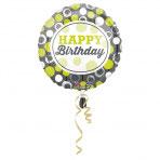1 Folienballon - Ø 45cm - Geburtstagskreise