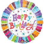 1 Folienballon - Ø 71 cm Jumbo Radiant Happy Birthday
