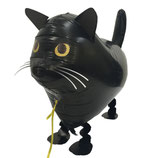 1 Laufender Ballon - Ø 60cm – Katze Schwarz