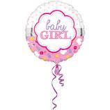1 Folienballon - Ø 43cm – Baby Girl/Boy Muschel
