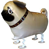 1 Laufender Ballon - Ø 55 cm – Hund Mops (Carlino Pug)
