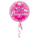 1 Folienballon - Ø 45cm - Geburtstagsprinzessin