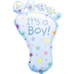 1 Folienballon - Babyfuß Junge/Mädchen