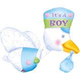 1 Folienballon -Ballon It's a Boy/Girl Storch