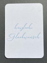 """Art. 20.004 / """"härzlechi Glückwünsch"""""""