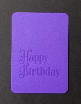"""Art. 21.009 / """"Happy Birthday"""" (violett)"""