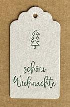 """""""schöni Wiehnachte"""", Papierfarbe grau"""