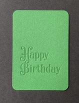 """Art. 21.010 / """"Happy Birthday"""" (grün)"""