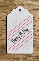 Happy B-Day / grau
