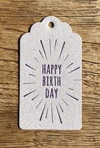 Happy Birthday / grau