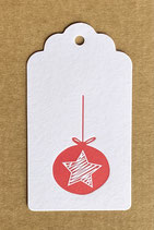 """""""Weihnachtskugel"""", Papierfarbe weiss"""
