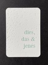 """Art. 21.007 / """"dies, das&jenes"""""""