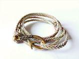 Bronze-goldenes Armband mit Anker