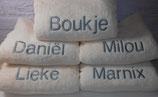 Handdoek met naam.