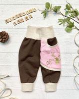 Trachtenpumpi Baumwollsweat rosa/ braun
